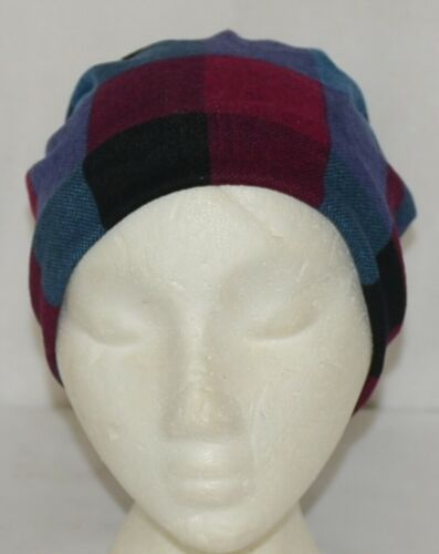 Howards Arianna Collection Buffalo Plaid Convertible Hat Adult Blues