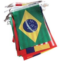 Brazil World Cup Fabric Bunting- All 32 Flags 9 Metres - $11.95