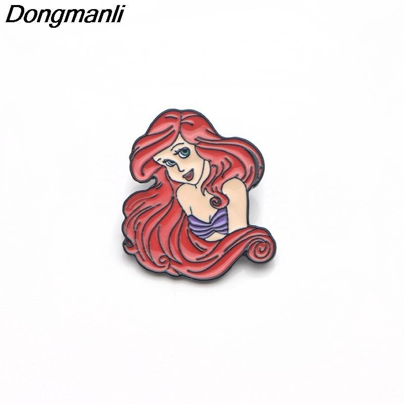 Primary image for Mermaid Charm Metal Enamel Pins and Brooches for Women Men Lapel Pin backpack ba