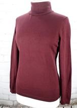 TALBOTS Turtleneck Sweater Pullover Women's Petite M PM Long Sleeve Burgundy - $35.64