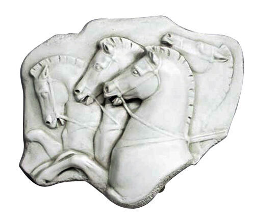 "Primary image for Greek Rearing Horses Frieze Relief Wall Sculpture 14"" x 12"""