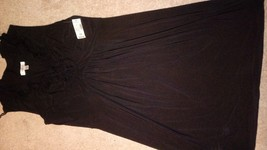 NWT Dress Barn Size 12 Black Dress with Ruffling around the neck - $8.42