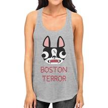 Boston Terror Terrier Womens Grey Tank Top - $14.99+