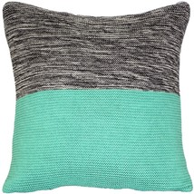 Pillow Decor - Hygge Espen Celeste Green Knit Pillow - £36.65 GBP