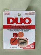 Ardell Duo 2 IN 1 - Foncé Ton / Blanc Transparent Brosse Sur Adhésif - 0.18oz/5g - $9.27