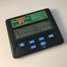 Radica Pocket Blackjack 21 Card Game Handheld Electronic Model 1350  - $9.89