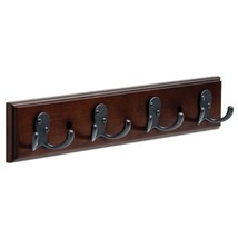 LIBERTY 165544 Hook Rack with Four Double Prong Hooks Cocoa and Soft Iron,  16-I image 1