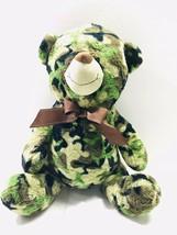 "Camo Teddy Bear MTY International 18"" Camouflage Plush Stuffed Toy Army ... - $18.01"