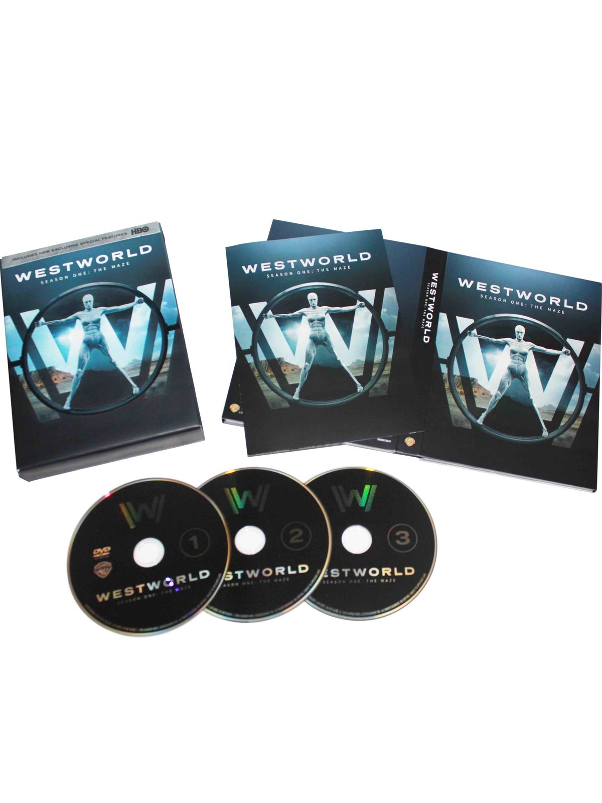 New Westworld The Complete Frsit Season 1 (DVD, 2016,4-Disc Set) Free Shipping