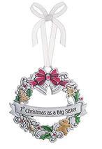 Ganz 1st Christmas Ornament As A Big Sister - $17.33