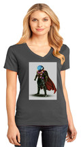 Mysterio Far From Home District Made Ladies Perfect V-Neck T-Shirt Size XS - 4XL - $19.99+
