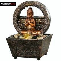 LED Fountain Tranquil Buddha Soothing Natural River Rocks Relaxation Meditate - $35.63