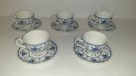 Johnson Brothers Ironstone Indies Blue Tea Cup & Saucer – Set of 5 - $29.00