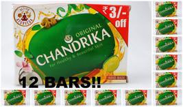 12 Bars Chandrika Original 125grams XXL Handmade Soap Healthy Beautiful ... - £18.70 GBP