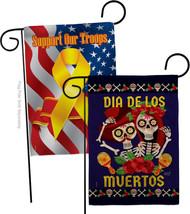 Dia De Los Muertos Pair Burlap - Impressions Decorative Support Our Troops Garde - $34.97