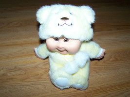 "Plush CPK Cabbage Patch Kid Baby Doll Dressed in Bear Costume Outfit 6"" ... - $18.00"