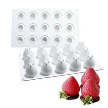 OCPO Silicone Molds for Baking 3D Mini Strawberry Mold Silicone Mousse C... - $15.61