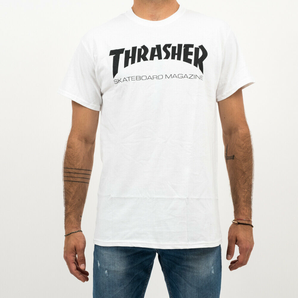 Primary image for T-SHIRT MAN THRASHER SKATE MAG T-SHIRT 110101WH CREWNECK TEE MAN TRIBES