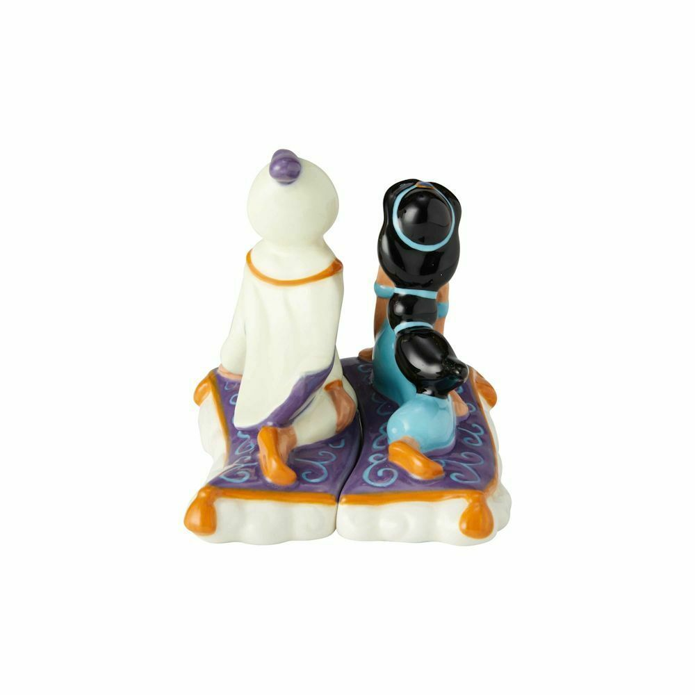 Walt Disney Aladdin & Jasmine on Carpet Ceramic Salt & Pepper Shakers Set BOXED image 2