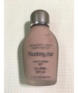Discontinued Neutrogena Healthy Skin liquid Foundation SPF20 Warm Carame... - $48.01