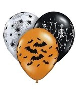 Halloween Spooky Design Balloon Assortment - Bag of 50 - £23.79 GBP