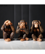 Three Wise Monkey Figurine Resin Ornaments Animal Figures Statue for Indoor 2021 - £25.91 GBP - £71.98 GBP