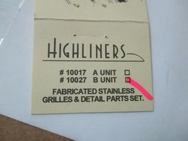 Highliners Stock #2007 F7 B-Unit Kit with Screens and all Parts HO Scale image 8