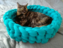 Knitted Pet Bed Dog Cat Bed Puppy Pillow House Soft Warm Dog House Mat -... - $49.99