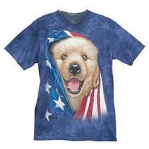 Patriotic Golden Pup T-Shirt-LG - $30.24