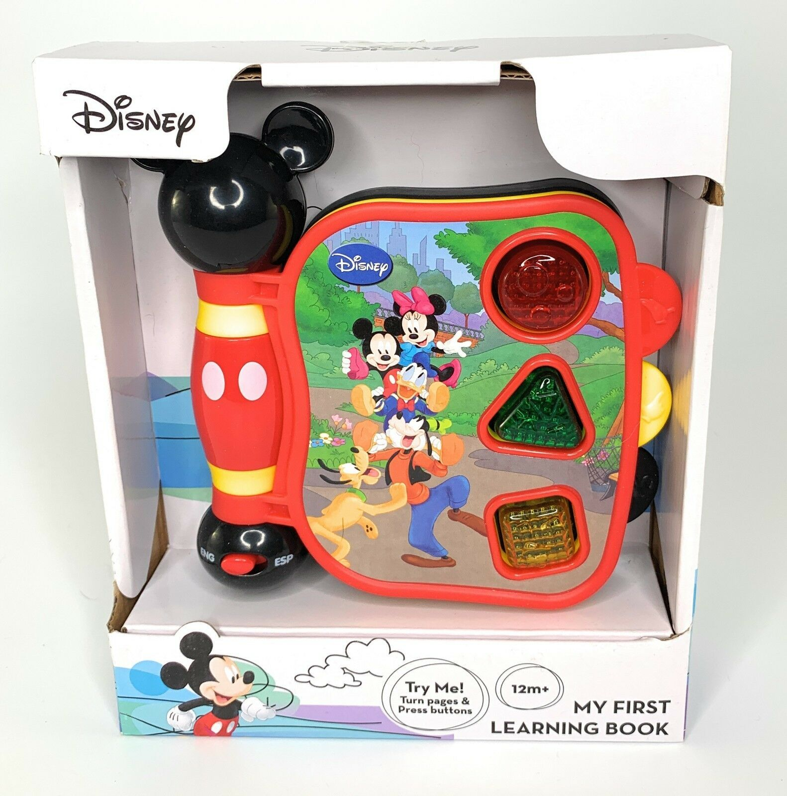 Primary image for Disney Mickey Mouse My First Learning Book Sight Sound 12M+ Gift English Spanish