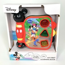 Disney Mickey Mouse My First Learning Book Sight Sound 12M+ Gift English... - $19.79