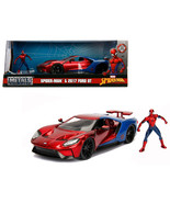 2017 Ford GT with Spider Man Diecast Figure Marvel Series 1/24 Diecast M... - $48.85
