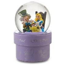 Disney Alice in Wonderland MerryUnbirthday Snow Globe Snow Dome figure case - $290.07