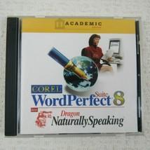 Corel WordPerfect Suite 8 Win 95 NT 4.0 w/ Dragon Naturally Speaking Aca... - $34.60