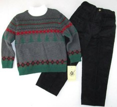 NWT Good Lad Boys 3 Pc Sweater, Turtleneck & Black Cords Set Outfit, 5, $46 - $14.99