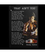 Rocky Balboa Speech That Ain't You CANPO75 Portrait Canvas .75in Framed - $25.00+