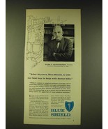 1960 Blue Shield Insurance Ad - After 16 years, Blue Shield is still our... - $14.99