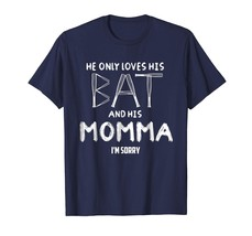 New Shirts - His Bat And His Momma Funny Baseball Softball Moms T-Shirt Men - $19.95+