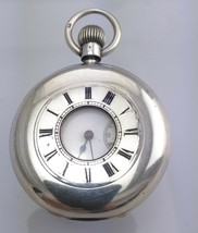 Mint Silver J W Benson 15J Half-Hunter Longines Pocket Watch 1889 - $788.69