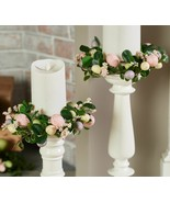 Set of 2 Easter Egg and Boxwood Candle Rings by Valerie    @CM3 - $193.99