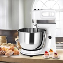 250W 5-Speed Stand Mixer w/ Dough Hooks Beaters and - $76.04