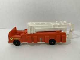 Fisher-Price Little People vintage fire truck made in USA red white engine - $9.89
