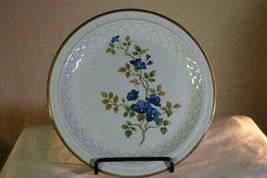 "Nikko Colorstone Blue Flowers Brown Trim Dinner Plate 10 3/4"" - $5.54"