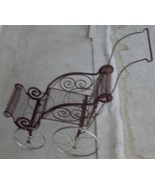 SUPER CUTE Antique Wire Mesh Baby Doll Carriage -  GREAT OLD DOLL CARRIAGE - $59.39