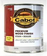 1 Can Cabot 32 Oz Premium Wood 1 Step Finish 8356 Cayenne Satin Stain & ... - $21.99