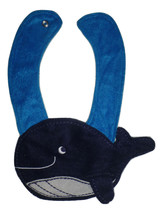 NEW Carter's Blue Whale Baby Boys Terry Cloth Teething Drool Bib - $3.95
