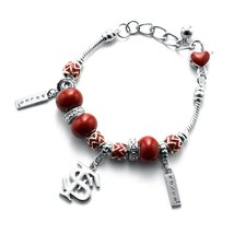 Inspired Silver Florida State University Logo Multi Beaded Charm Bracele... - $989,53 MXN