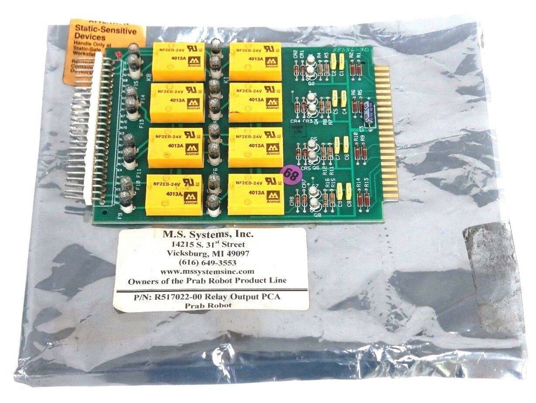 NEW PRAB ROBOT INC. MODEL: 517022B01 RELAY OUTPUT PCA BOARD R517022-00