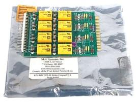 NEW PRAB ROBOT INC. MODEL: 517022B01 RELAY OUTPUT PCA BOARD R517022-00 image 1