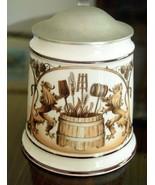 Rastal Hohr Grenzhausen Lidded Brewers Ceramic BEER STEIN - Hops and Bar... - $25.95